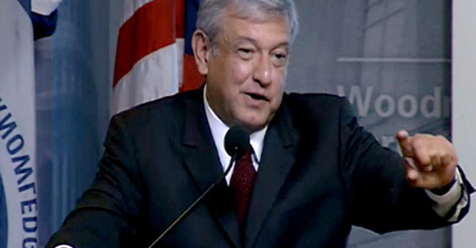El discurso íntegro de López Obrador <br>en el Wilson International Center