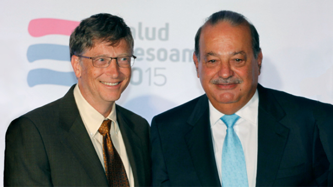 Bill Gates y Carlos Slim.