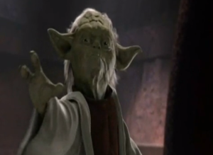El maestro Yoda. //Foto: tomada de video de Youtube.