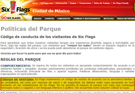 Código-de-Vestimenta-Six-Flags