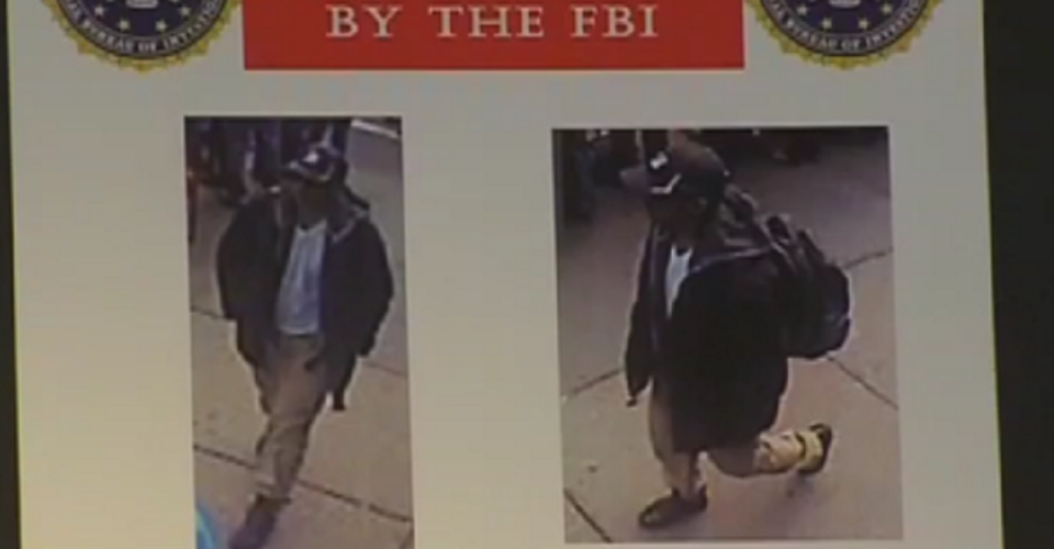 Video del FBI de sospechosos por atentado en Boston
