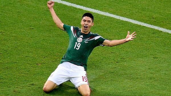 FIFAWorldCupCuenta verificada @FIFAWorldCup REPORT: #MEX beat #CMR 1-0 courtesy of Oribe Peralta (@Cpillo24). #WorldCup #MEXCMR #joinin - http://fifa.to/1kwt5K5  pic.twitter.com/wc5QrZHOLg