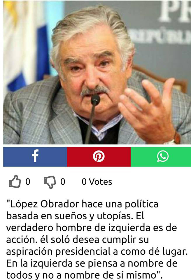 Noticia falsa sobre Mujica y AMLO