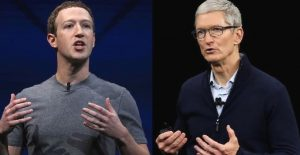 La polémica entre Mark Zuckerberg y el jefe de Apple, Tim Cook