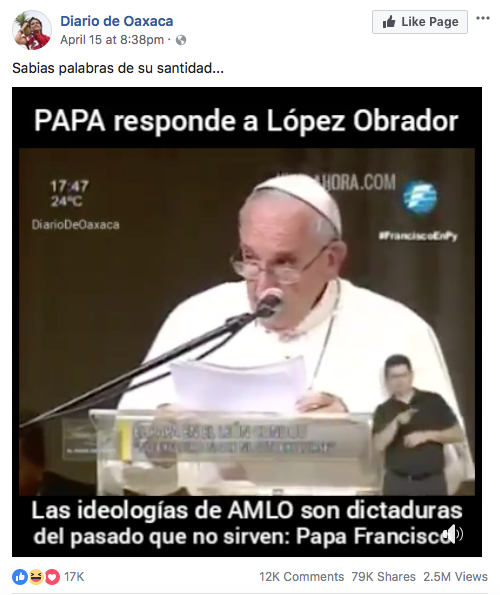 Notas falsas papa Francisco