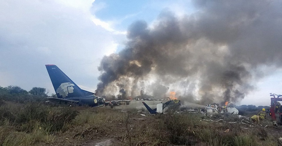 avión se accidenta en Durango