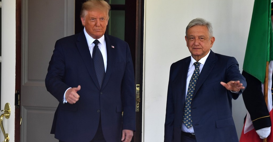Trump and lopez OBRADOR gathered for the first time